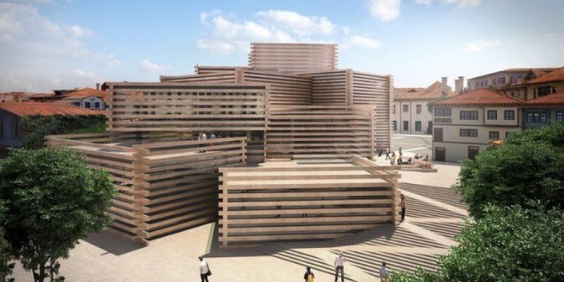 شرکت معماری کنگوکوما و شرکاء از طراحی ساختمان موزه با قطعات چوب در ترکیه رونمایی میکنند