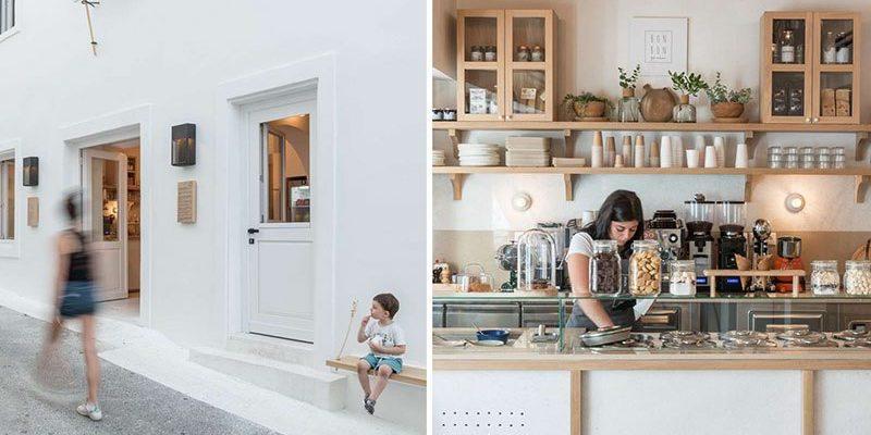طراحی داخلی کافه معاصر در یونان از بازسازی ساختمان دهه ۱۸۶۰ میلادی