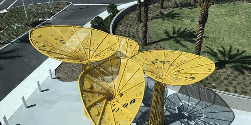 طراحی سازه مجسمه ای ورودی Pembroke Pines / معماران Brooks + Scarpa