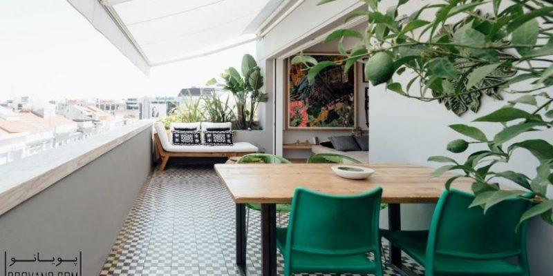 تبدیل پنتهاوس لیسبون به یک آبادی شهری با استفاده از نور و گیاهان سبز