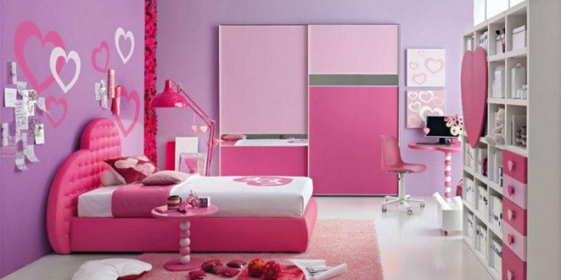 طراحی دکوراسیون اتاق دخترانه رویایی