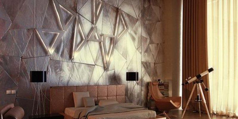 تکسچر های دیواری ؛ ۱۵ ایده طراحی دکوراسیون داخلی با تکسچر دیوار ، طراحی ۳D دیوار