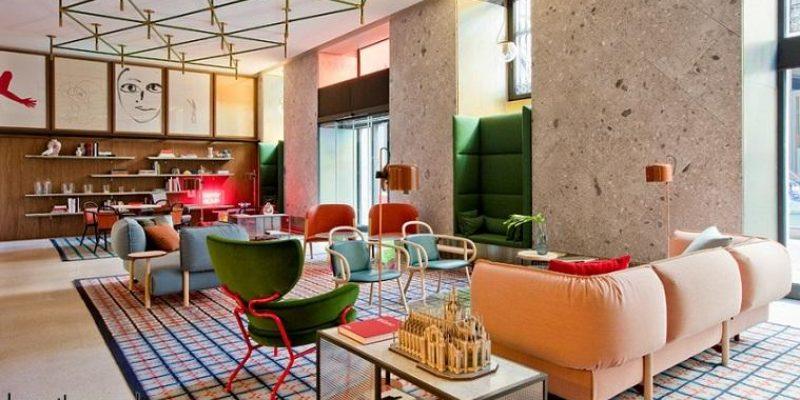 طراحی هتلهای زنجیرهای Room mate ؛ پاتریشیا اورکوئیولا هتل رنگارنگ میلان را برای هتلهای زنجیرهای «روممیت» طراحی میکند