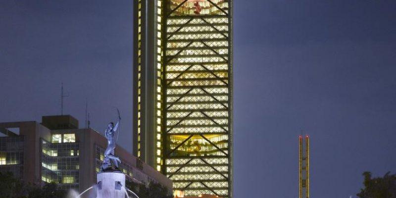 طراحی برج آسمانخراش بنکامر BBVA Bancomer Tower / اثر شرکتهای معماری لگارتا و لگارتا ، راجرز استیرک هابر و همکاران