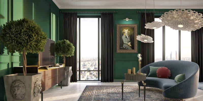 رنگ سبز اتاق : ببینید چطور رنگ سبز میتواند نمای یک اتاق را تغییر دهد