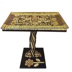 میز عسلی چوبی سازه مدل جنگلی