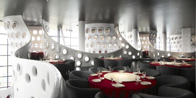 طراحی داخلی رستوران با الهام از لانه زنبور