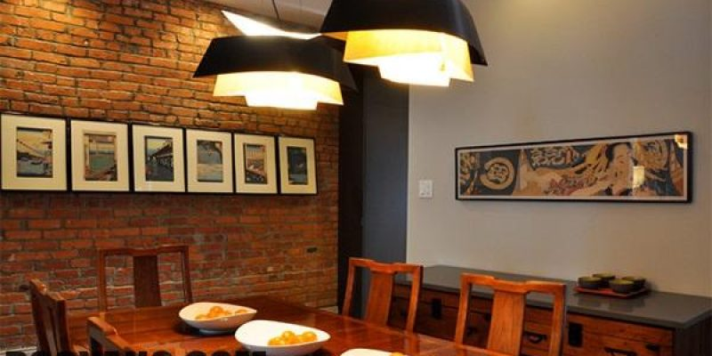طراحی داخلی سالن غذاخوری با استفاده از آجر