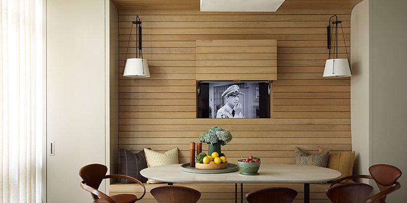پنهان کردن تلویزیون ؛ چطور تلویزیون را در دکوراسیون منزل مخفی کنیم