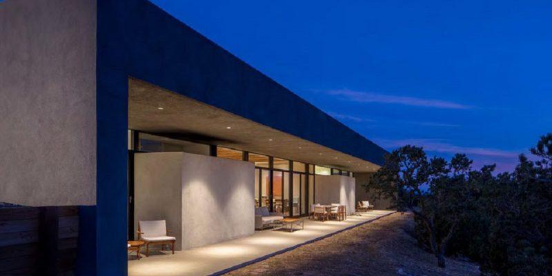 طراحی خانه بتنی در کویر نیومکزیکو
