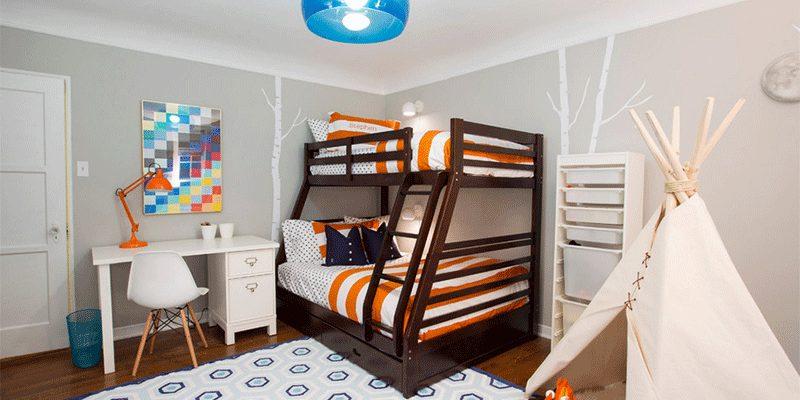 خیمه یا چادر سرخپوستی در اتاق کودک ! ۲۶ اتاق خواب کودک با طرح کمپینگ ماجراجویانه