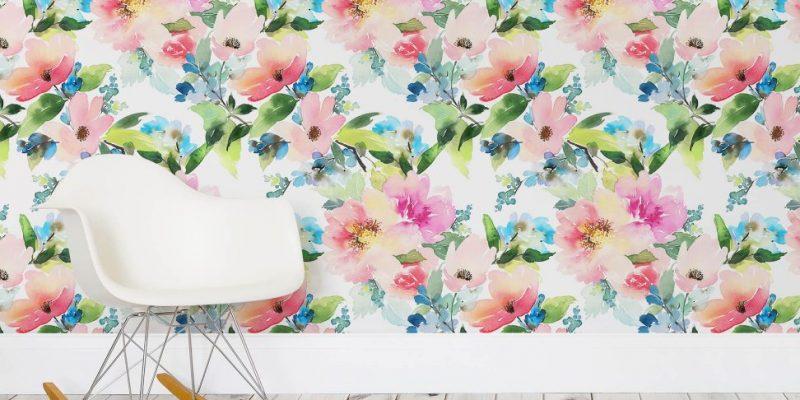کاغذ دیواری آبرنگی ؛ دیوارهایتان را به یک اثر هنری تبدیل کنید!