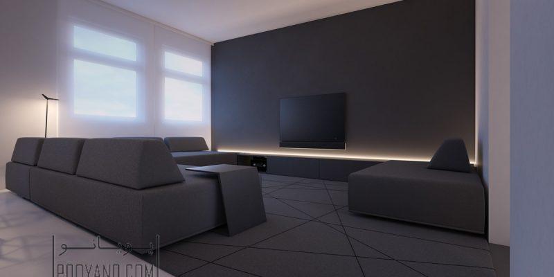 ۳۰ نمونه بینظیر از اتاقهای پذیرایی سیاه و سفید