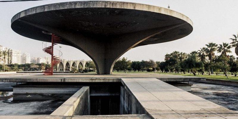 معماری نیمه تمام اسکار نیمایر برای سالن نمایشگاه بین المللی لبنان