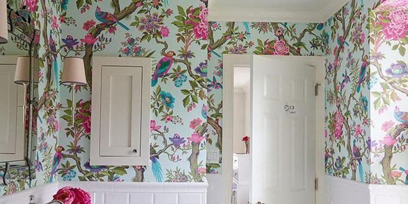 ۲۰ طرح کاغذ دیواری شیک حمام و سرویس بهداشتی