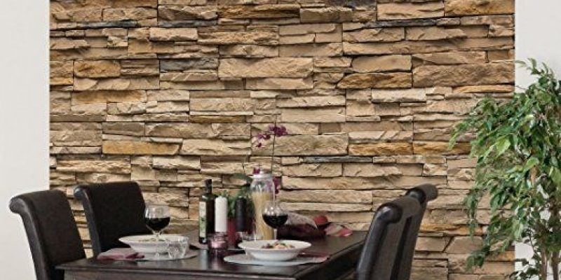 مدل کاغذ دیواری طرح سنگ در طراحی دکوراسیون داخلی