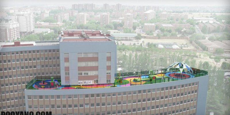 طراحی معماری فضای بازی و باغ کودکان مبتلا به سرطان