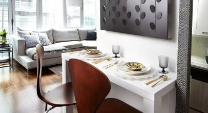 مدل میز صبحانه خوری دو نفره کوچک و کمجا با ۲۰ طرح در منزل