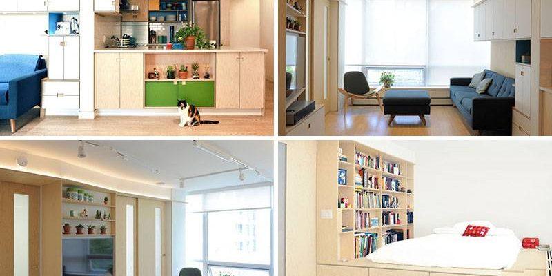 فضاهای ذخیره سازی در آپارتمان کوچک