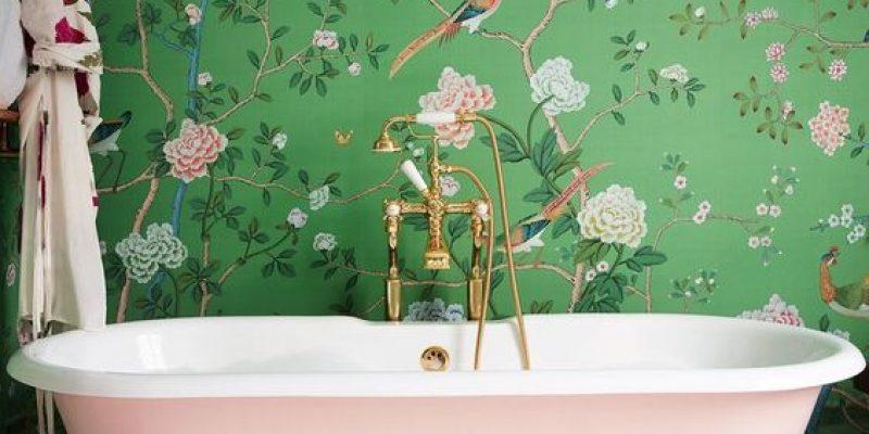 استفاده از کاغذ دیواری در سرویس بهداشتی و حمام