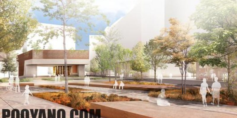 طرح پیشنهادی کتابخانه و پلازای شهری