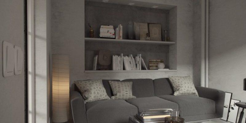 رنگ خاکستری سرد ، برای فضای داخلی آزاد