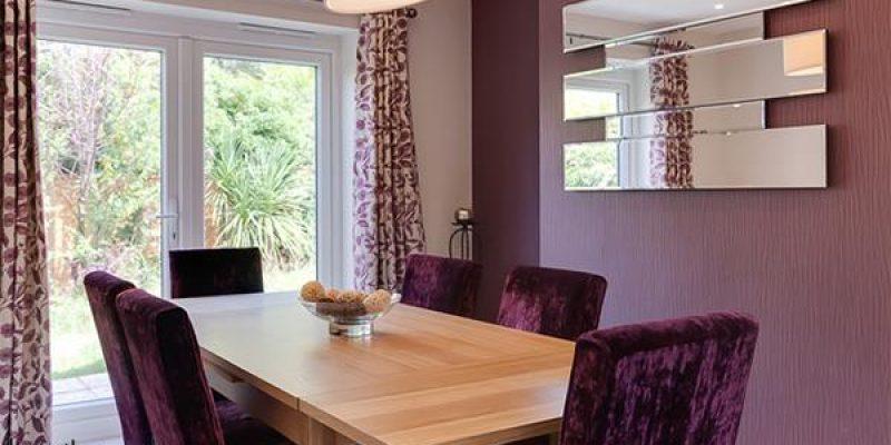 ۲۰ صندلی مخملی برای میز ناهارخوری در دکوراسیون اتاق های غذا خوری پرظرافت