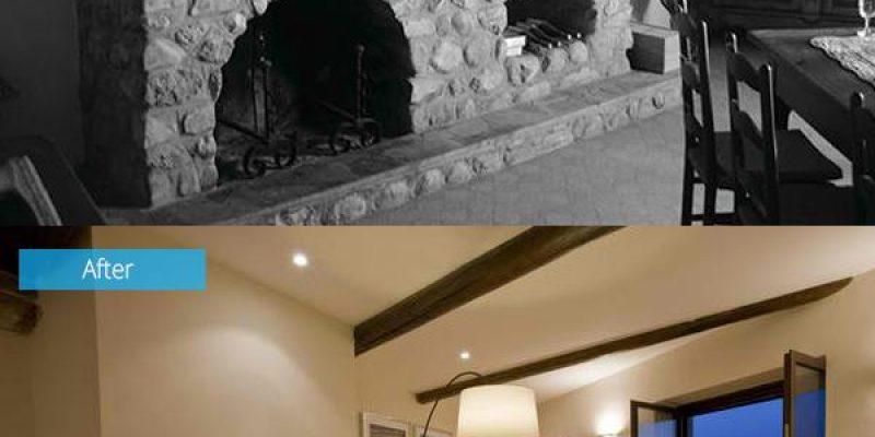 ۱۵ تصویر از قبل و بعد بازسازی سالن پذیرایی