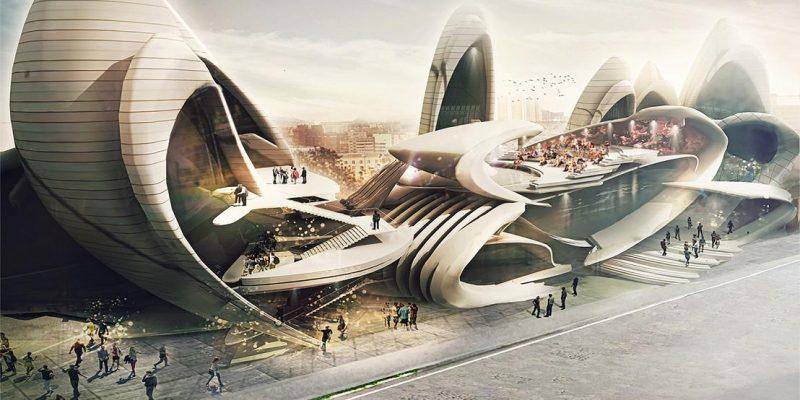 برنده جایزه مسابقات مدرسه مسکو با طراحی معماری الهام بخش از بال حشرات