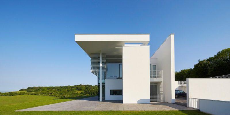 طراحی خانه سفید در آکسفورد شایر به شکل املاک اربابی انگلیسی توسط Richard Meier