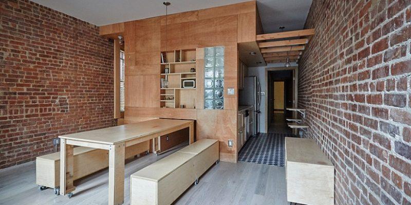 اتاق هایی قابل تغییر شکل در بازسازی آپارتمان در نیویورک / معمار Peter Kostelov