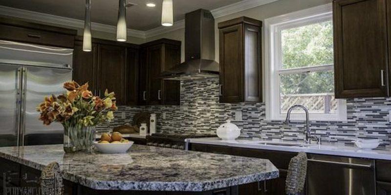 ۱۵ کانترتاپ یا پیشخوان گرانیتی یا سنگ کابینت در طراحی کابینت آشپزخانه