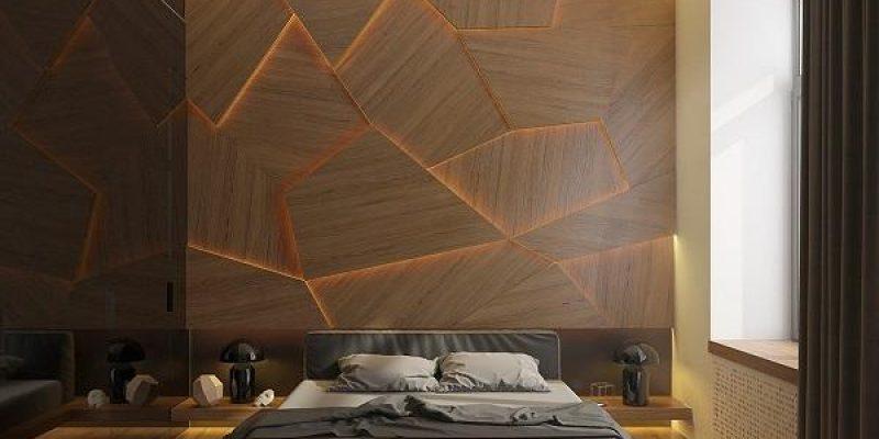 نورپردازی تخت خواب که با شناور شدن در اتاق خواب زیبایی جذابی را پدید می آورد
