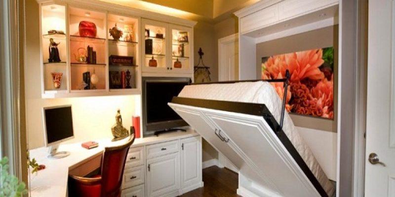 ۱۲ مدل تخت خواب دیواری و کم جا برای اتاق خوابهای کوچک