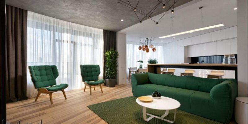 طراحی آپارتمانهای مینیمال با ایجاد کنتراست بالا / شرکت معماری داخلی Sergey Makhno