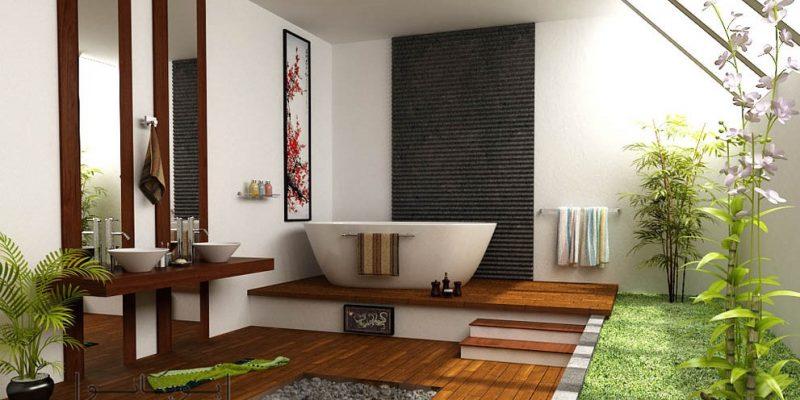 ۱۴ عنصر طراحی داخلی سبک آسیایی در حمام و سرویس بهداشتی