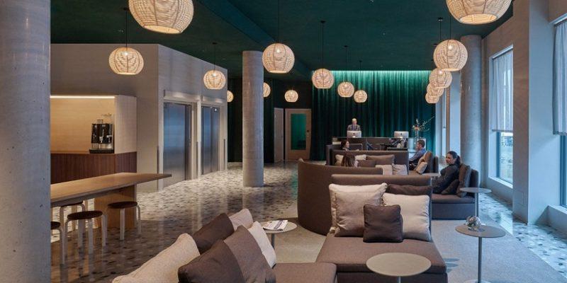 طراحی فضاهای داخلی با تم باران برای هتل Zander K در برگن