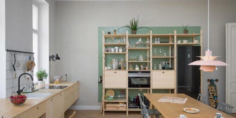 بازسازی و طراحی فضای کاری آشپزخانه مانند ، در آپارتمانی در وین