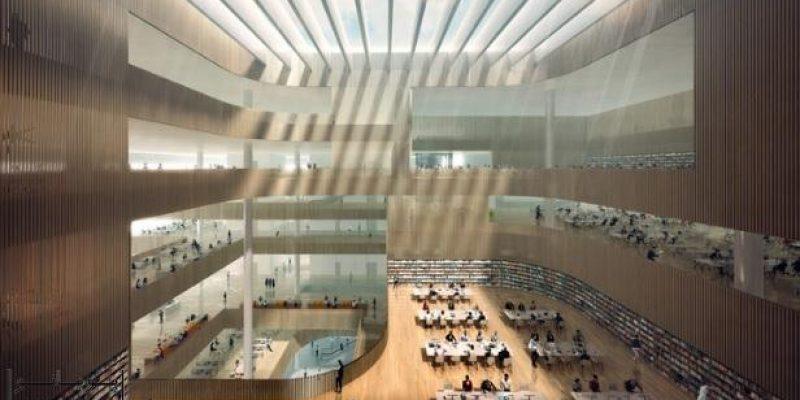 طراحی کتابخانه جدید شانگهای توسط شرکت معماری اشمیت هامر لاسن