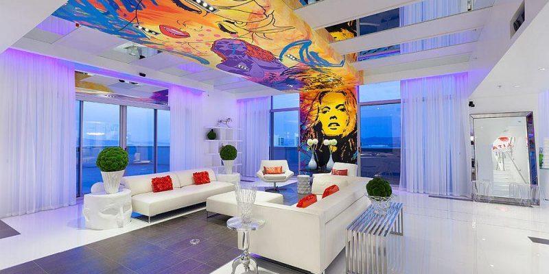 ۱۰ اتاق با سقف های رنگارنگ و مسحورکننده