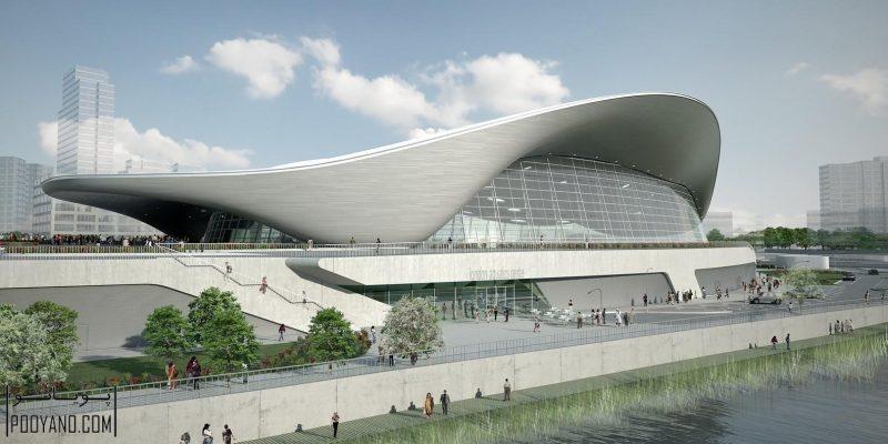 معماری ؛ مرکز ورزشهای آبی لندن برای المپیک تابستانی ۲۰۱۲ / زاها حدید