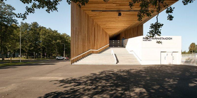 طراحی استادیوم استونیایی با جایگاهی برای تماشاچیان که با سطوح چوبی زاویهدار پوشانده میشود