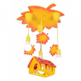لوستر آویزی کودک مدل کلبه پاییزی