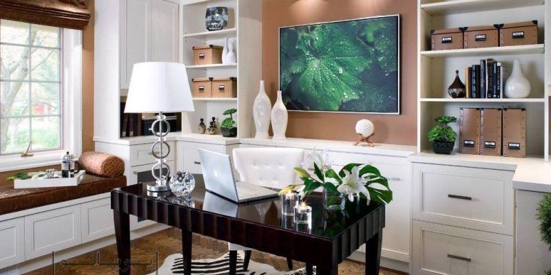 طراحی دفتر کار خانگی : ۴ مرحله ضروری برای دفتر کار کاربردی و زیبا
