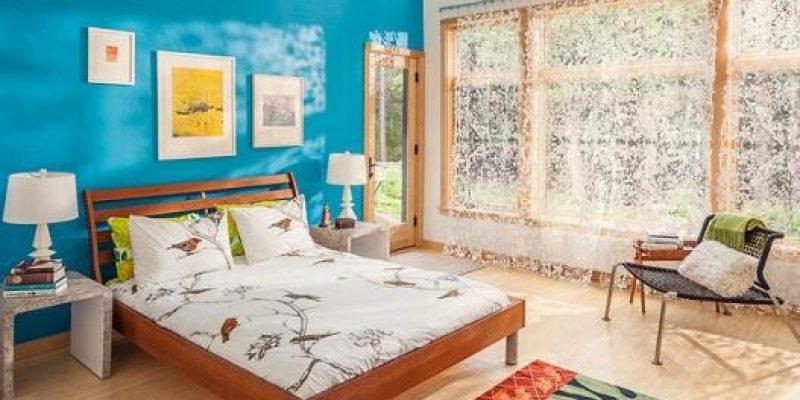 ۱۰ اتاق خواب زیبا به رنگ آبی