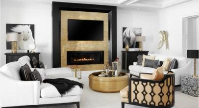 با انواع کاشی متالیک فلزی یا کاشی کامپوزیت در رنگ های گرم جلوه مدرن به اتاق خود بیفزایید