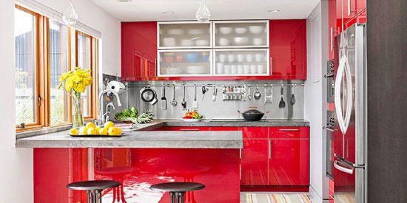 نمونه بازسازی کابینت آشپزخانه در آشپزخانه کوچک