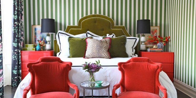 رنگ دیوار ها در طراحی اتاق خواب (رنگ و کاغذدیواری)