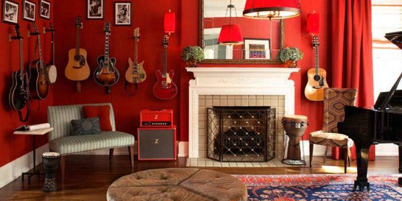 ایده های دکوراسیون برای اتاق هایی با دیوار های قرمز