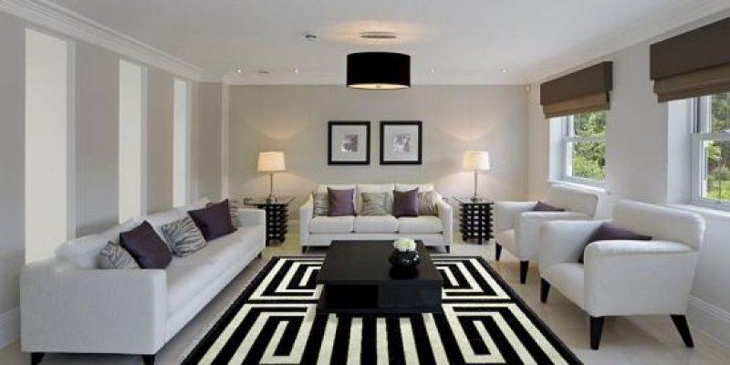 ۳۵ فرش زیبا در طرحها و الگوهای هندسی برای اتاق نشیمن